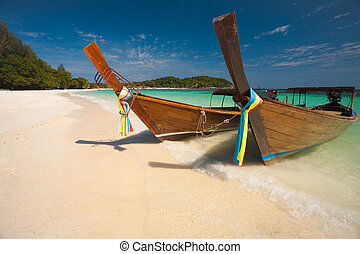 Traditional Longtail Boats Koh Lipe
