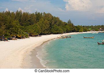 Thai Island Beach Aerial View Koh Lipe