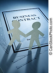 Business Contract and Paper Chain Men