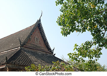 temple building wooden