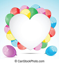 Bunch of Balloon with Heart