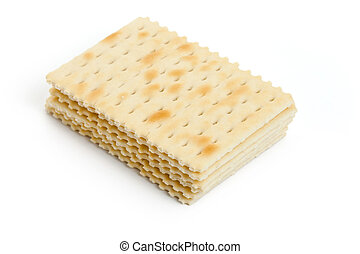 Cracker with white background