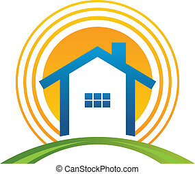 House with sun