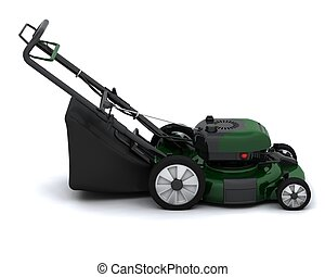 Lawn Mower - 3D Render of a Petrol Lawn Mower