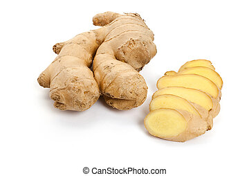 ginger with white background