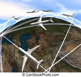AIRcraft_LAND - Three-dimensional aircraft overfly the land