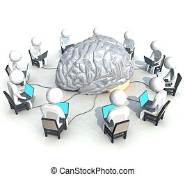 BRAIN_Computer - three-dimensional, programmer,  brain,