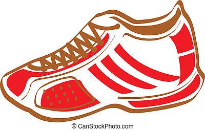 Sneaker - Cartoon sneaker or shoe.