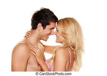 Couple has fun - Couple has fun and joy Love, eroticism and...