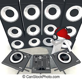 DJ,  Equipment - three-dimensional isolated DJ,  Equipment