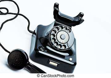 Antique, old retro phone - An old, old landline telephone...