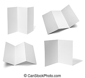 leaflet white blank paper template - collection of various...