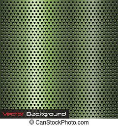 Metallic Background - Image of a green metallic background.