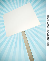 Protest banner - Blank protest banner with decorative rays...