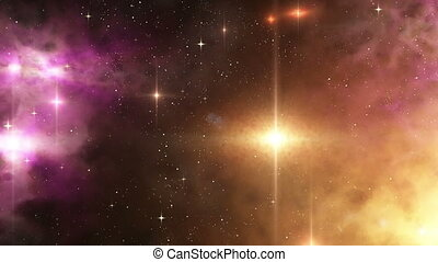 Nebula and stars in deep space - Nebula and stars in deep...