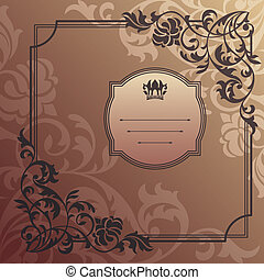 abstract decorative frame vector illustration