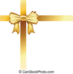realistic golden ribbon background
