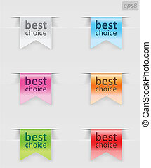 ribbons with color variations