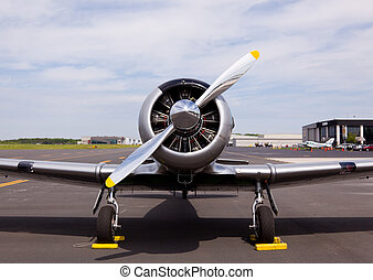 American AT-6 Texan plane - AT-6 Texan, known as the Harvard...