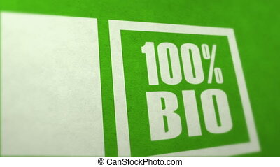 Bio stamp in zoom out
