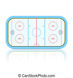 Hockey rink - Vector illustration of a hockey rink
