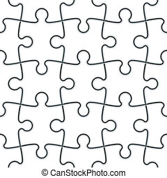 Seamless Jigsaw Puzzle - Seamless vector illustration of a...