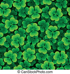 Seamless clover background - Vector seamless illustration of...