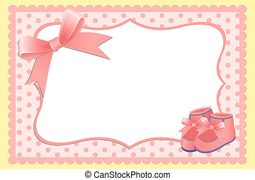 Cute template for babys card - Cute template for babys...