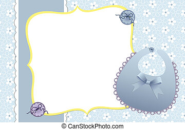 Cute template for baby's card - Cute template for baby's...