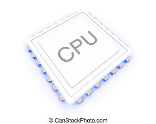 Glowing CPU