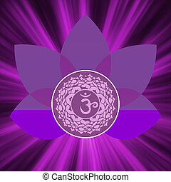 Sahasrara chakra symbol EPS 8 vector file included