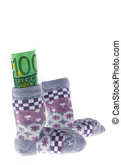 Children\'s Socks and Euro banknotes