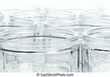a lot of glasses with soft focus