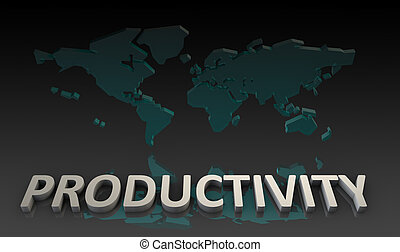 Productivity and Global Output Worldwide in 3d