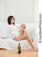 Attractive twenties hispanic woman