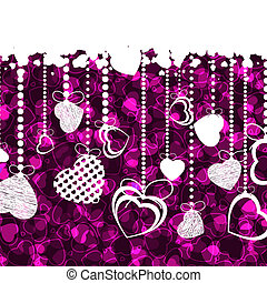 Valentine\'s day card template. EPS 8