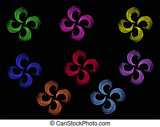 Multicolor Abstract Flowers