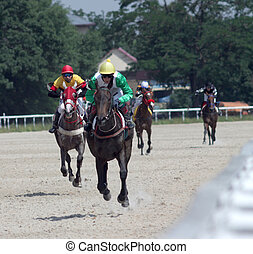 Horse racing. - Horse racing in Pyatigorsk,Caucasus.