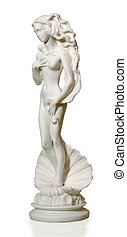 gypsum statue of a woman in a classic style