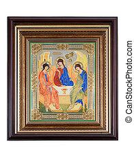 icon on a white background - Icon: Saint Trinity - father,...