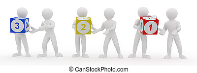 Conceptual image of teamwork. 3d - Conceptual image of...