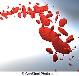 flying, red, matte, heart