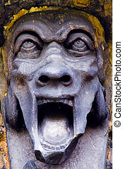 Screaming Gargoyle - Screaming gargoyle detail from a tomb...