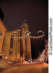 The St.-Annen-church in winter - The St.-Annen-church in...