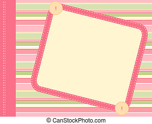 Scrapbook frame - Scrapbook style illustration with open...
