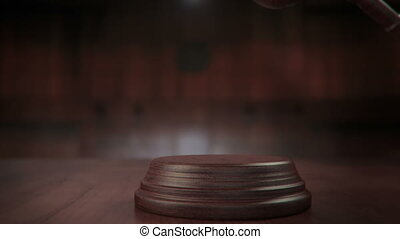 court gavel strike loop and alpha - fancy Court Gavel...