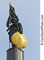 Soviet soldier monument - Detail of a monument for the...
