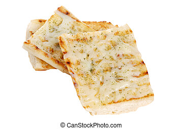 isolated garlic bread with cheese