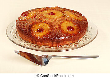closep pineapple upside down cake - pineapple upside down...