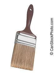 Marrom, pintura, escova